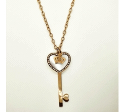 COLLAR LLAVE ROSE Y NACAR