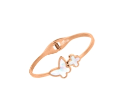 PULSERA LOTUS ACERO ROSE
